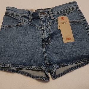 Levi's Hi-Rise Retro Western Style Denim Shorts 29